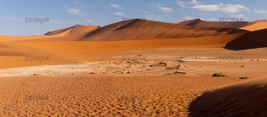 beautiful landscape Hidden Vlei in Namibia Africa