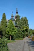 im Kurpark von Bad Flinsberg (Swieradow-Zdroj) im Isergebirge,Niederschlesien,Polen