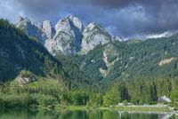 Blick vom Gosautal auf das Dachsteingebirge,Oberoesterreich,Salzkammergut