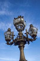 Sculpture on the Pont Alexandre 3 in Paris