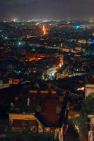 panorama of the night city