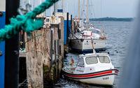 Boote im Hafen von Travemünde