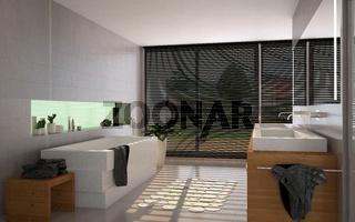 Badezimmer Sonne 3D Rendering