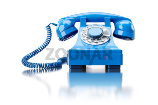 old turquoise dial-up phone