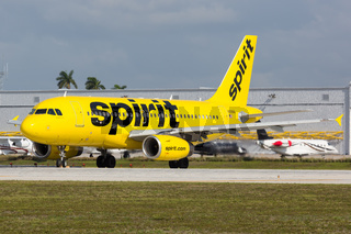 Spirit Airlines Airbus A319 airplane Fort Lauderdale airport