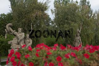Volgograd, Russia : The sculptural group Warriors kill a hydra and destroys a swastika