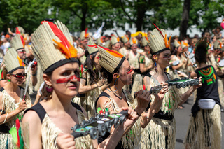 The annual Carnival of Cultures (Karneval der Kulturen) celebrated around the Pentecost weekend.