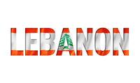 lebanon flag text font