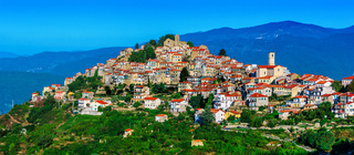 View of Bajardo in the Province of Imperia