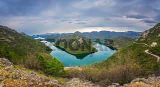 The bend of the Rijeka Crnojevica River