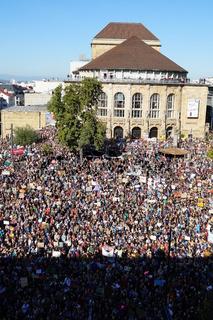 Fridays for Future Demo in Freiburg im Breisgau