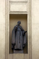 Statue of Saint bristling with needles