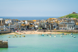 Stunning St Ives port and town