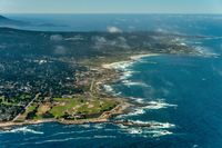 Pebble Beach in California Aerial Photo