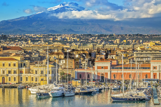 View Of Mount Etna, Catania, Sicily, Italy