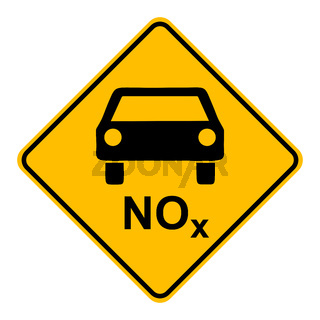 NOx Auto und Schild - NOx car and road sign