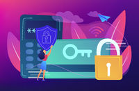 Security access card concept vector illustration.