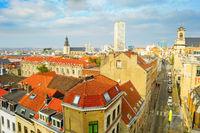 Aerial cityscape, architecture, Brussels, Belgium