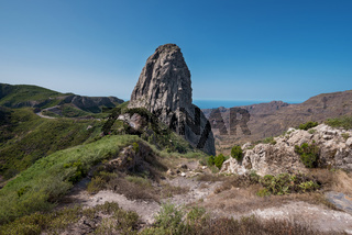 Roque Agando in La Gomera island, Canary islands, Spain.