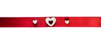 Ribbon and heart decor on white