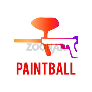 Vector logo for paintball and airsoft game