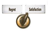 Street Sign Satisfaction versus Regret