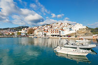 The port in the Chora of Skopelos, Greece