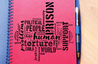 Human word cloud collage