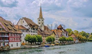 Blick auf Diessenhofen, Kanton Thurgau, Schweiz
