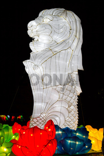Chinese Lantern Festival New Year New Year Singapore Merlion