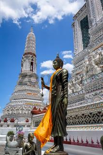 Buddha statue in Wat Arun temple, Bangkok, Thailand
