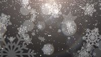 White snowflake falling. Happy New Year and Merry Christmas shiny background