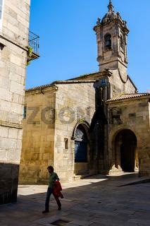 Historic street Santiago de Compostela