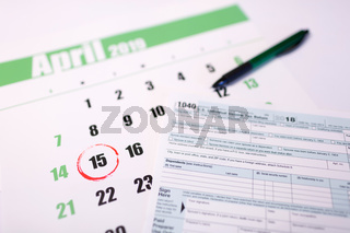 USA tax day april 15 2019