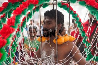 Singapur, Republik Singapur, Teilnehmer beim Thaipusam-Fest in Little India