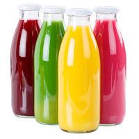 Saft Flasche frisch Fruchtsaft freigestellt Freisteller