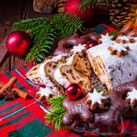 delicious dresdner christ stollen with marzipan and raisins