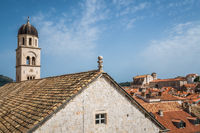 Church bell tower in Dubrovnik