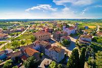 Village of Nova Vas in Istria aerial view