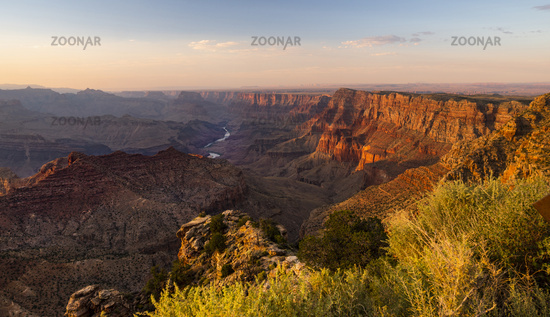 Light and Shadows Fall Across Ridges and Buttes of the Grand Canyon