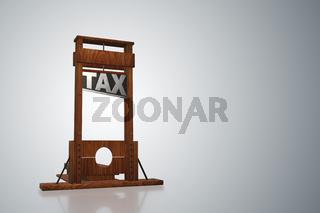 Business concept of tax payments burden - 3d rendering
