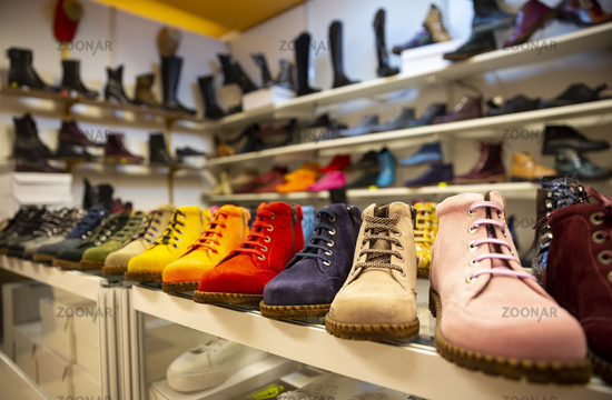 Colorful boots shoes