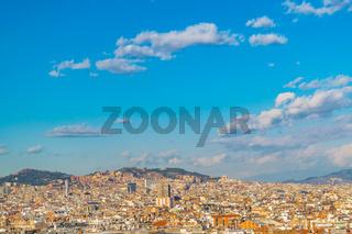 Aerial View Barcelona City, Spain