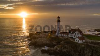 Famous Portland Head Light Atlantic Coast Lighthouse