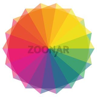 Farbfächer in Regenbogen Farben