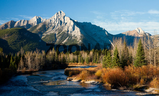 Mount Lorette in Kananaskis in autumn