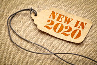 new in 2020 - text on a price tag