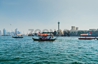 Shore line view Water Taxi Deira Creek Side