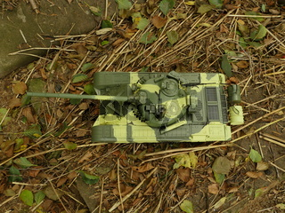 tank T-72 green camouflage