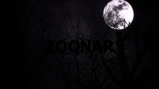 Mystical halloween background with dark moon and clouds
